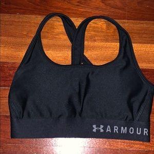 criss cross back under armor sports bra